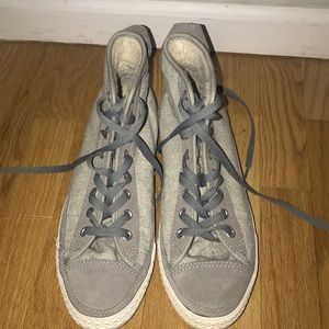 "Gray ""all star"" converse with insulated padding"